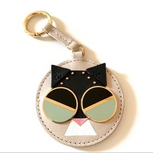 kate spade spademal smitten kitten dangle keychain